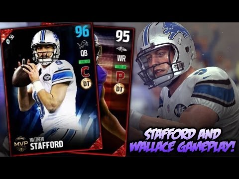 95 SPEED MVP WALLACE AND MVP STAFFORD GAMEPLAY! HES TOO FAST! | MADDEN 17 ULTIMATE TEAM