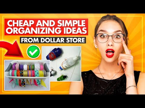 24 Cheap And Simple Organizing Ideas From Dollar Store
