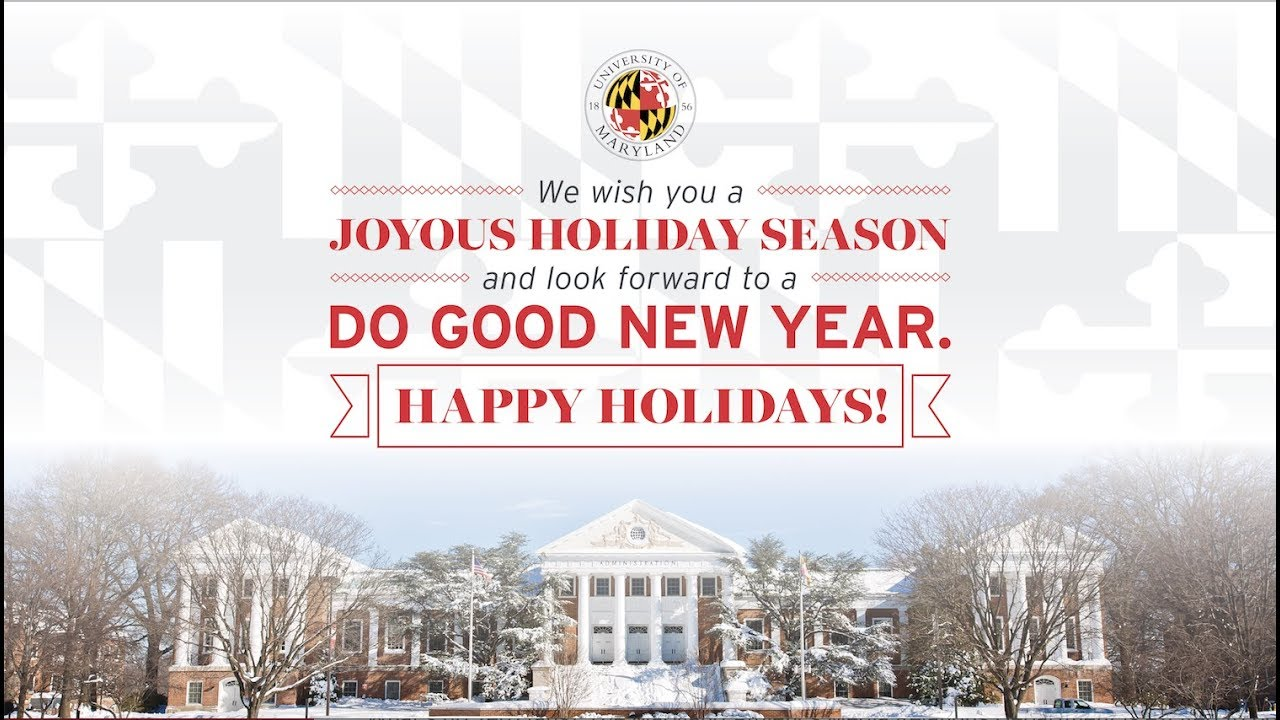 2017 Holiday Greetings from UMD - YouTube