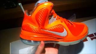 Lebron 9 Big Bang Unboxing with on feet