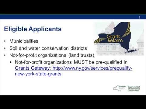 NYS DEC Water Quality Improvement Grant