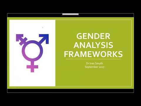 Gender Analysis Frameworks