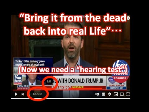 """Bring it back from the dead into real life"" - Listen - Don Trump Jr. on Hannity LISTEN 2/"