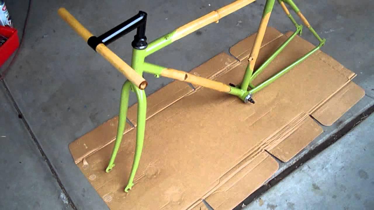Bamboo Fixed Gear Bike - Chromoly Lugged - YouTube