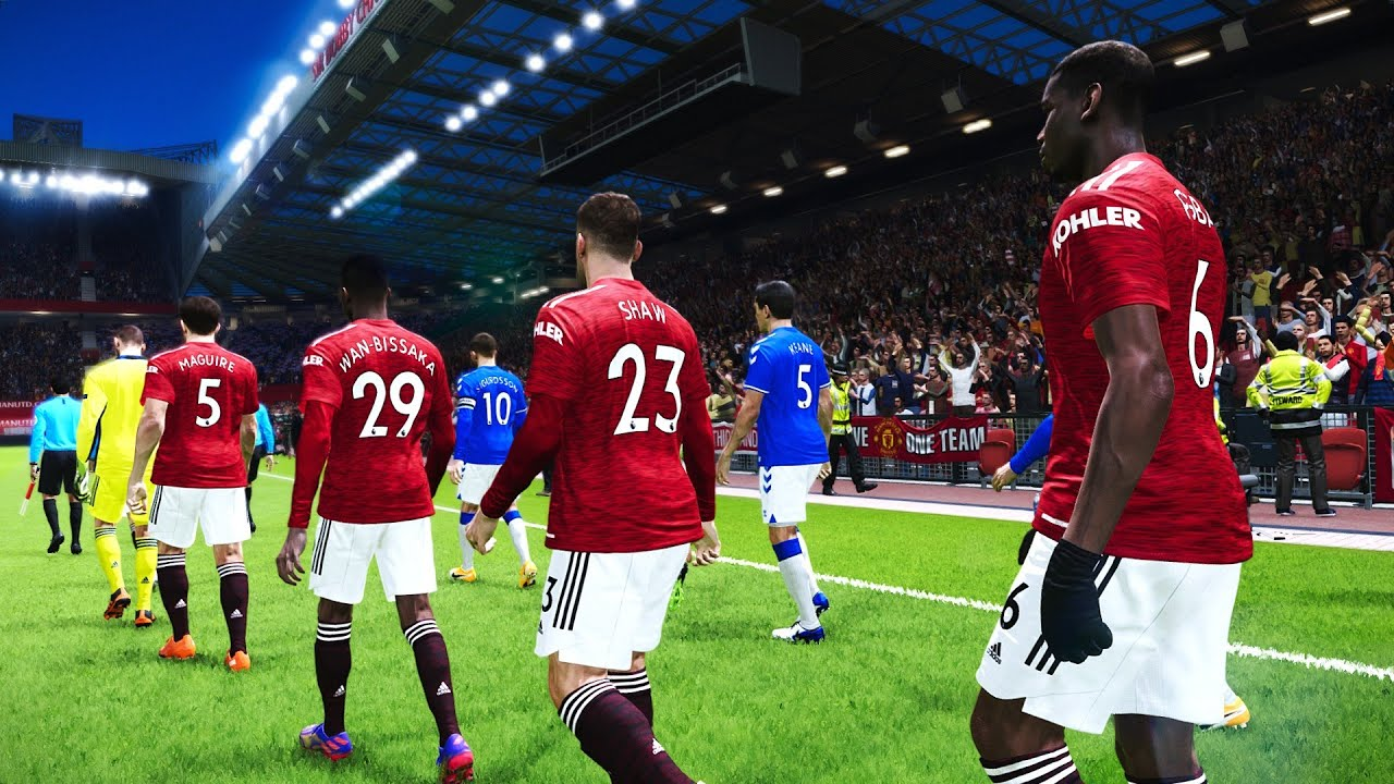 Manchester United vs Everton - Premier League 2020/21 Gameplay