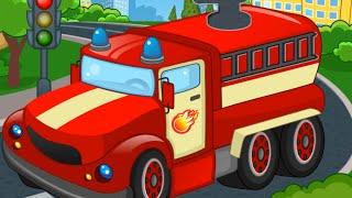 Pazzle car Обучающее Видео - машинки для детей: Название деталей автомобиля. - на русском