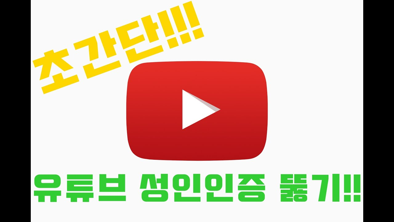 (초간단!!)  유튜브 19 성인인증 뚫기 #1