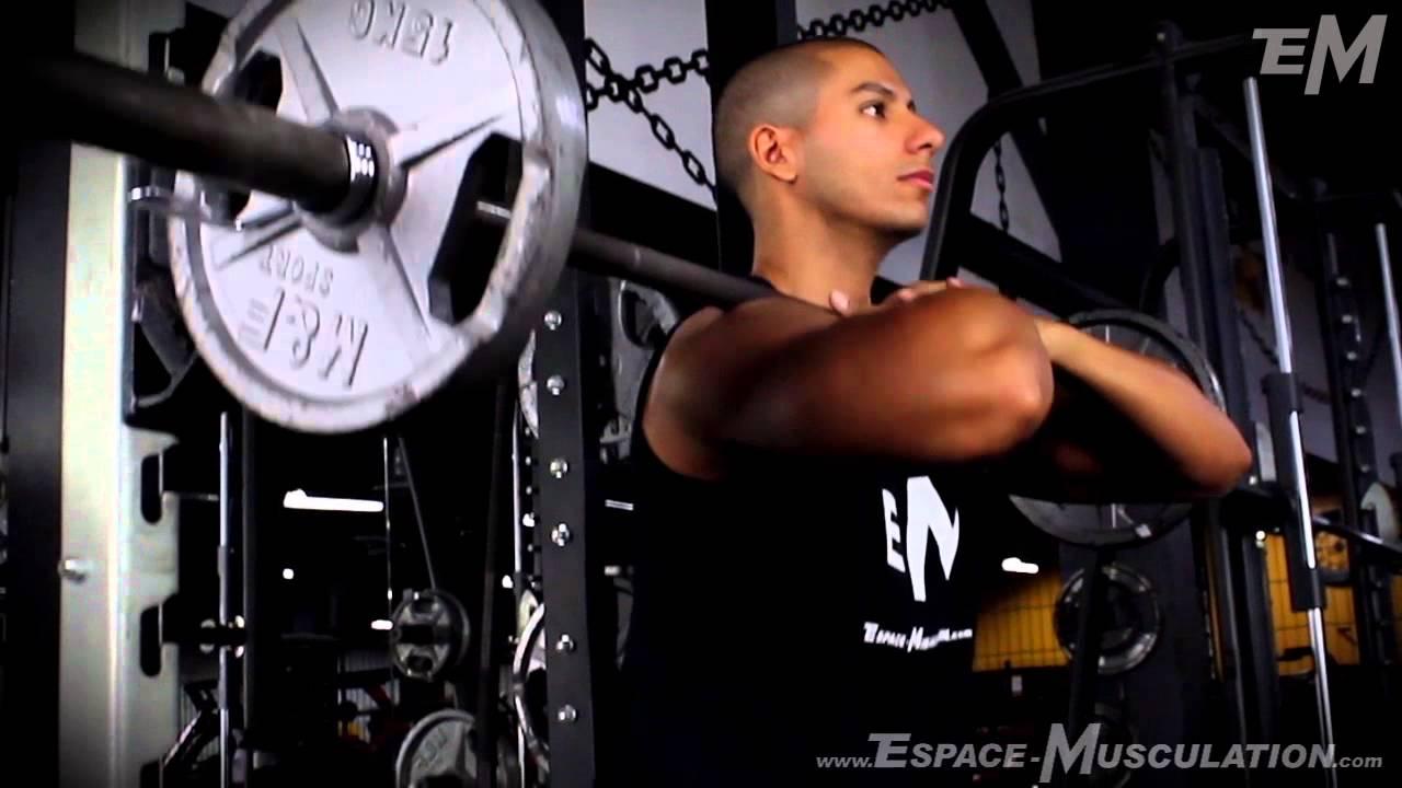 squat barre devant exercice de musculation pour les jambes youtube. Black Bedroom Furniture Sets. Home Design Ideas