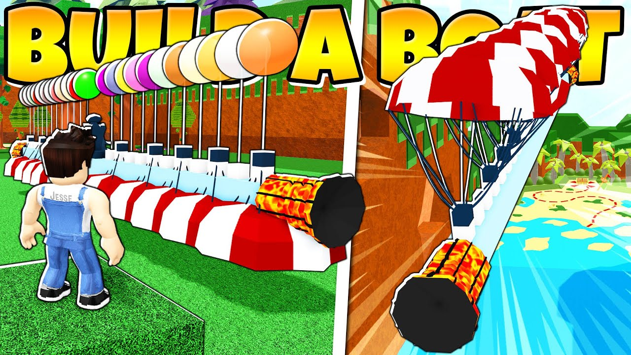 Download INSANE FLOATING PARACHUTE GOLD GRINDER In build a Boat!