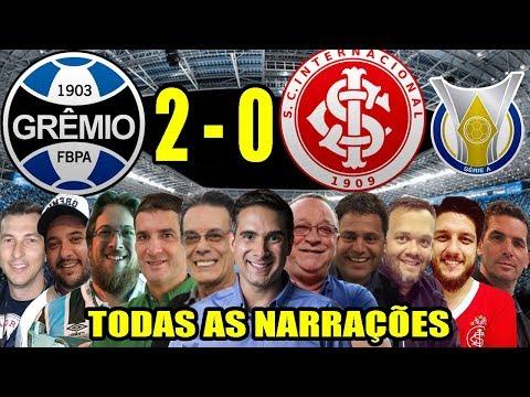 Todas as narrações - Grêmio 2 x 0 Internacional | Brasileirão 2019