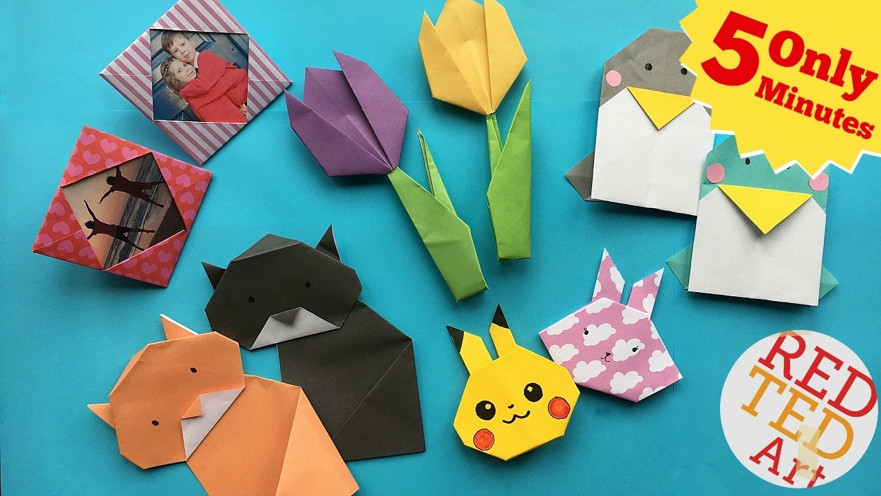 best 5 minute crafts 5 quick easy origami projects easy origami diys youtube. Black Bedroom Furniture Sets. Home Design Ideas