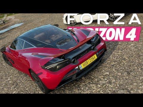 FORZA HORIZON 4 GAMEPLAY - McLaren 720S, Trophy Truck, Fiesta RX & Mclaren Senna!