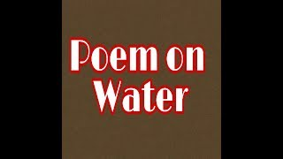 An English Poem on Water