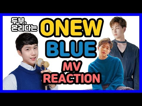 (ENG SUB)[ONEW Of Shinee(샤이니 온유) 'BLUE'] MV리액션 - Korean Music Video Reaction|wshonieTV