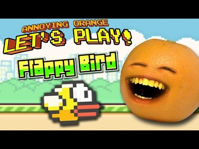 Annoying Orange Lets Play - Flappy Bird