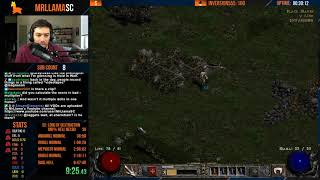 SICK RUN - Diablo 2 - HELL HARDCORE NECRO SPEEDRUN