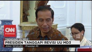 Kocak! Respon Singkat Presiden Jokowi soal UU MD3