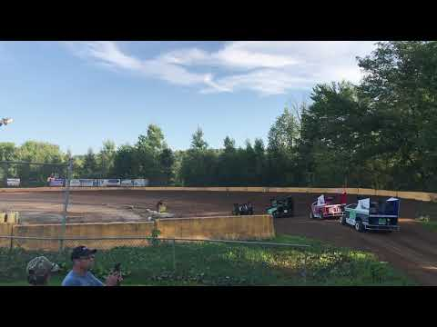 RJ Sherman Racing #22R Hamlin Speedway 8/4/18 Heat Race