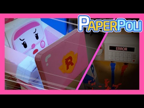 33.amber's-laptop-:-topsy-turvy-power-outage!-|-paper-poli-[petoz]-|-robocar-poli-special