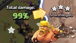 THE 99% 1 STAR GLITCH.. HOW? | Clash of Clans | Funny Fail Glitch
