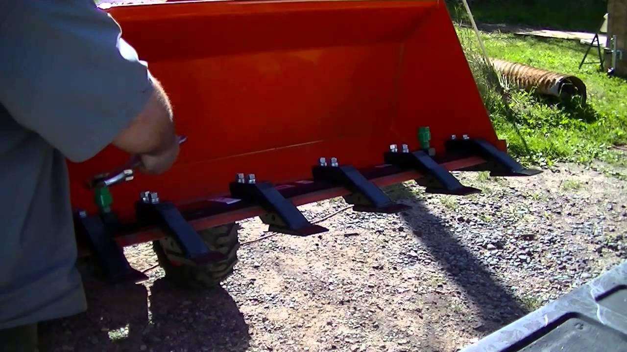 Tractor Loader Teeth : Toothbar quot bar installation on a kobuta b