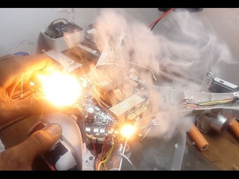 Dji Phantom 2 >> DJI Phantom 3 4K - Mainboard Short and Issuing Fire - YouTube