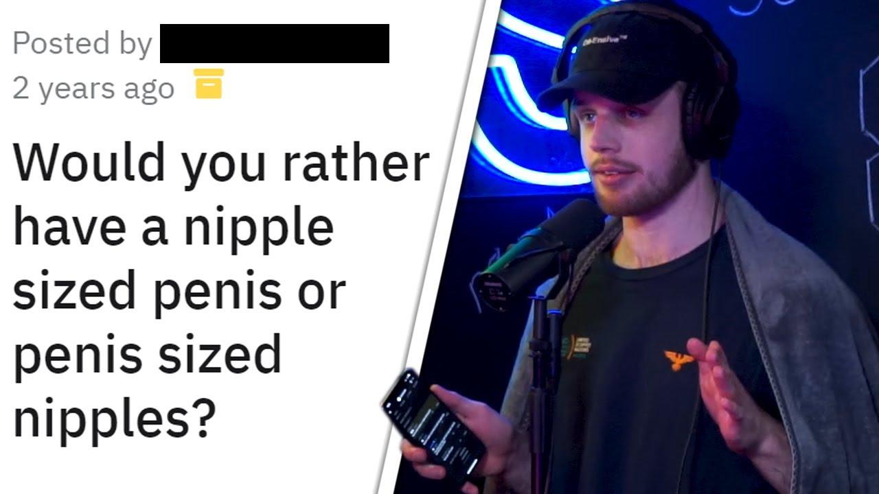 Penis Sized Nipples or Nipple Sized Penis?