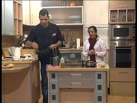 PTV Málaga: Mesa y Mantel -Coca verduras y langostinos. Solomillo. Tostas queso cabra- 24 Enero 2013