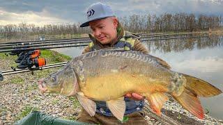 Ловля карпа весной 2021 Рыбалка на красивом озере Золотой берег