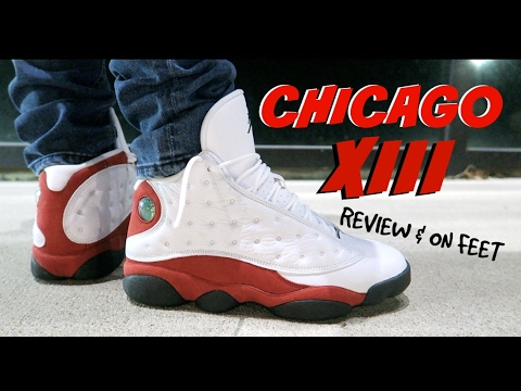 2ba6fdf2d663 2017 Jordan 13 XIII Chicago   Cherry Review   On Feet - YouTube