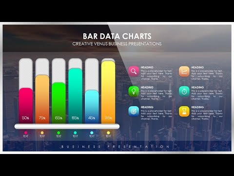 How To Create Beautiful Bar Data Chart for Business Presentation in Microsoft PowerPoint PPT