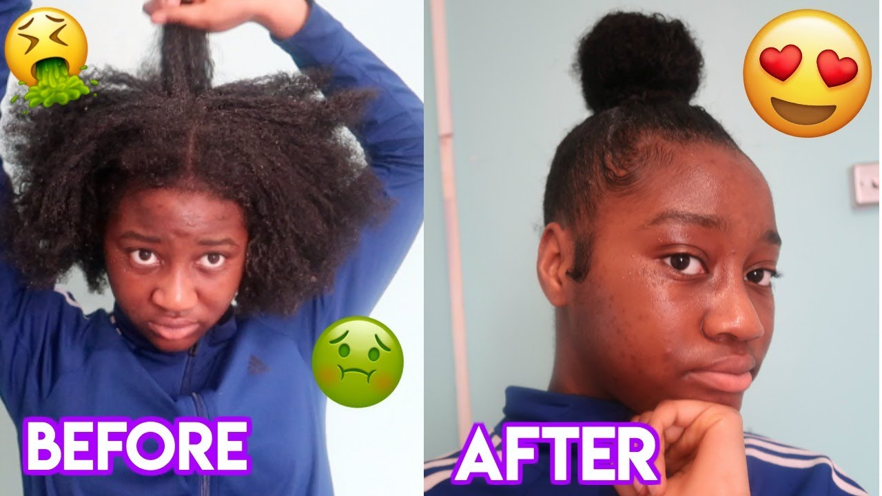 TOP KNOT BUN TUTORIAL ON THICK NATURAL HAIR