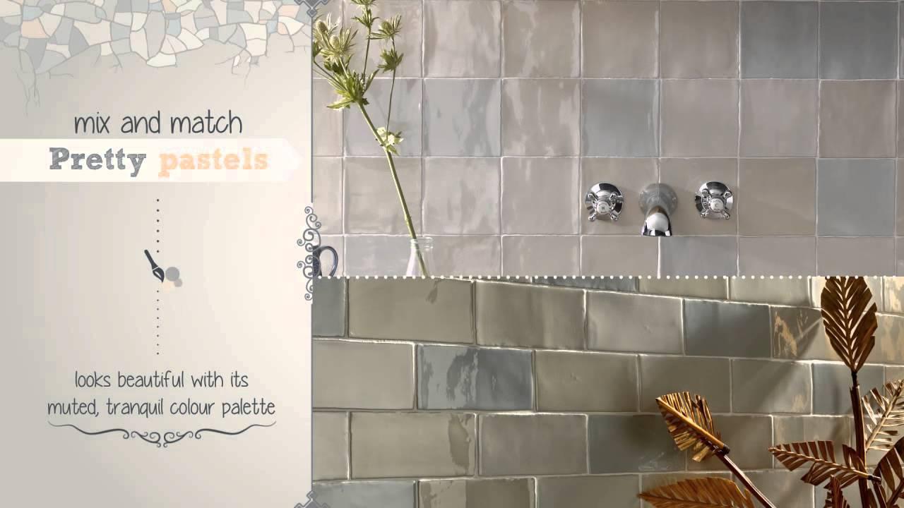 Topps Tiles Bathroom >> Chic Craquele Tiles - YouTube