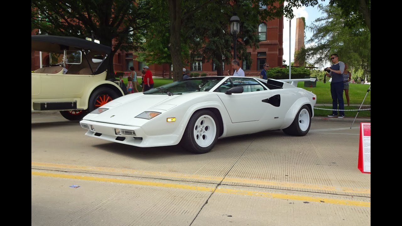 1987 lamborghini countach in white paint v12 engine sound on my car story with lou costabile. Black Bedroom Furniture Sets. Home Design Ideas
