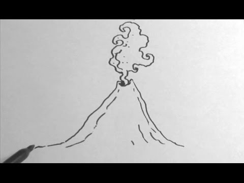 How to draw a volcano youtube ccuart Images