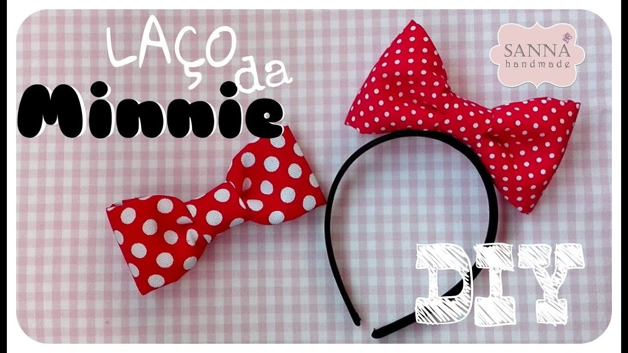 Diy Laço Da Minnie Youtube