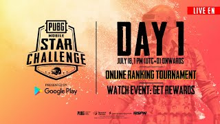 [EN] PMSC Online Ranking Tournament Day 1 | PUBG MOBILE STAR CHALLENGE 2019