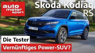 Skoda Kodiaq RS: Das fast vernünftige Power-SUV - Test/Review | auto motor und sport