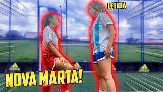 ELA JOGOU CONTRA A NOVA MARTA!! ( promessa )