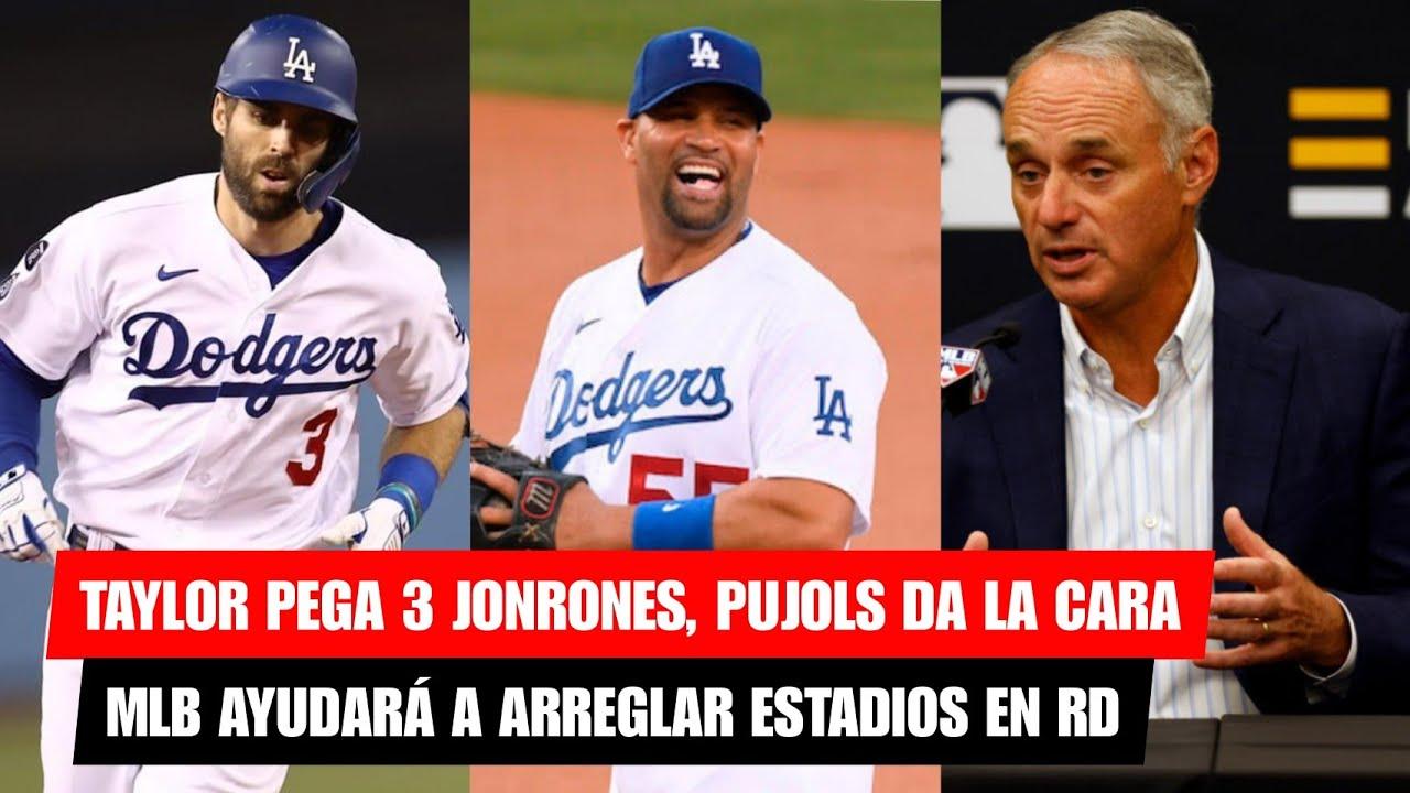 TAYLOR PEGA 3 JONRONES, PUJOLS DA LA CARA - MLB DA 17 MILLONES DE PESOS PARA REPARAR ESTADIOS EN RD