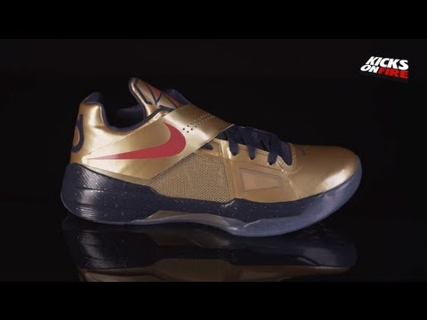 new arrival 33f95 b0237 Nike Zoom KD 4 - Gold Medal (360 View)