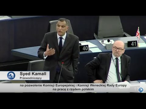 Syed Kamall MEP speech on Poland in the presence of Beata Szydło