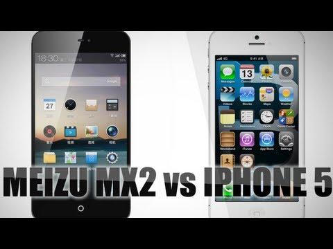 Сравнение Meizu MX 2 и iPhone 5