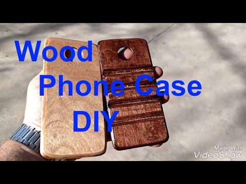 Make a wood phone case. DIY. Moto Z Force