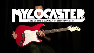 RED NYLOCASTER - Ben Woods - Nylon Stringed Electric Guitar