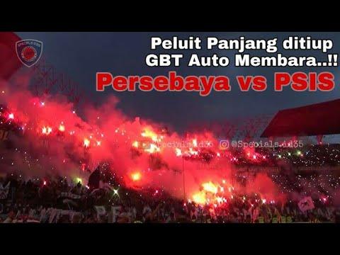 Kejutan Pesta Flare Bonek Diakhir Pertandingan Persebaya Vs PSIS Semarang Stadion GBT Surabaya