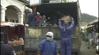 Otavalo, Ecuador:  Trash Truck Music