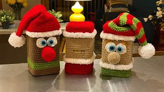 Left Hand: Eyes, Mouth, Nose & Brows: Crochet Christmas Puzzle Along