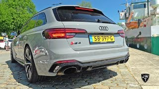 New 2018 Audi RS4 Avant B9 Exhaust SOUNDS! REVS, Accelerations & More!