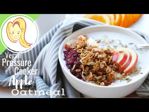 Steel Cut Apple Oatmeal in a Pressure Cooker